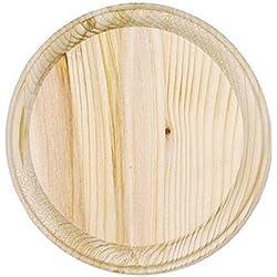 Darice 9179-65 Wooden Round Plaque, 7-Inch