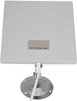 Nunafey Panel de Antena de Aluminio y plástico de Largo Alcance, Antena de Panel WiFi de 14 dbi, para Aplicaciones Exteriores de enrutador WiFi en ...