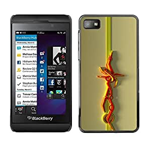Be Good Phone Accessory // Dura Cáscara cubierta Protectora Caso Carcasa Funda de Protección para Blackberry Z10 // Abstract Lines