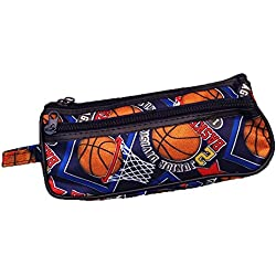 Basketball Hoop Toiletry Travel Bag Case 2 Zipper Gift - Cosmetics, Jewelry, Accessories, Electronics