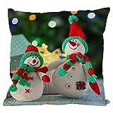 "Sdeycui Christmas Pillowcase, Soft Snowman Sofa Waist Throw Cushion Cover Home Decor (D, 18""x18"")"