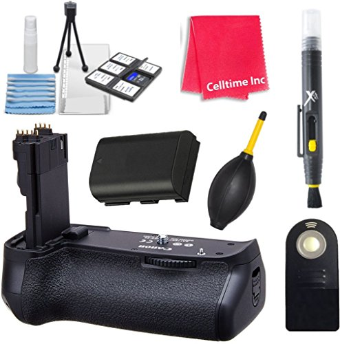Canon Battery Grip BG-E9 for the Canon EOS 60D Digital SLR Camera with Accessories by Celltime Inc.