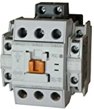 Benshaw RSC-32-6AC24 3 pole, 32 AMP contactor with a 24 volt AC coil and 2 N.O. and 2 N.C. side mounted auxiliary