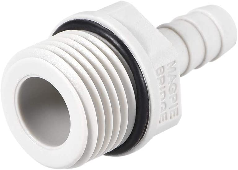 uxcell PVC Barb Hose Fitting Connector Adapter 8mm or 5//16 Barbed x G1//2 Male Pipe 5pcs