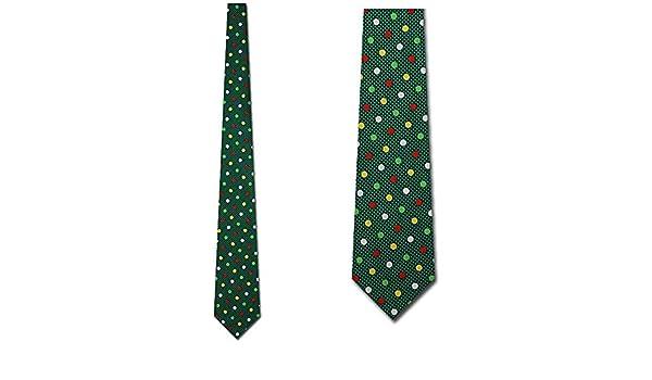 Lunares navideños con corbata verde - Corbata festiva para hombres ...