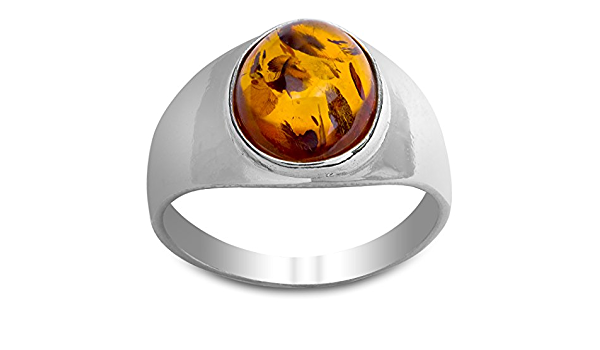 4.5+USA 9.5 g Adjustable Ring Sizeble Ring 15+mm 403 Long Oval Shape Sterling Silver Ring With Natural Yellow Transparent Amber