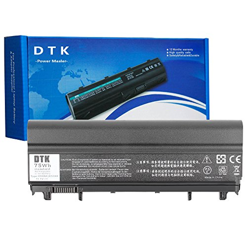 DTK New Laptop Battery high Capacity 9 Cells 11.1V 6600MAH Replacement for DELL E5440 E5540 P/N: N5YH9 VV0NF VVONF VJXMC 0M7T5F 0K8HC 1N9C0 7W6K0 F49WX NVWGM CXF66 WGCW6 (Battery Large Notebook Capacity)