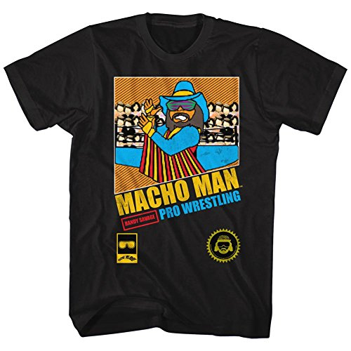 Macho Man Icons Pro Wrestling Adult Short Sleeve T Shirt XXXL by American Classics