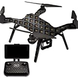 MightySkins Protective Vinyl Skin Decal for 3DR Solo Drone Quadcopter wrap cover sticker skins Black Wall