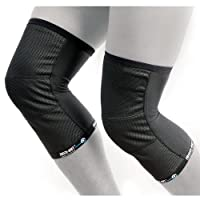 FREEZE-OUT Base Layer Knee Warmers - LG/XL, Black