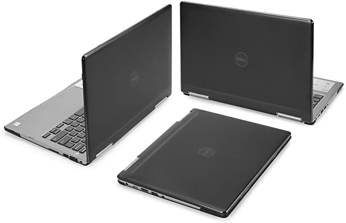 """mCover Hard Shell Case for 13.3"""" Dell Inspiron 13 7373 7370 2-in-1 Convertible (NOT Compatible with Older Dell Inspiron 7347/7348 / 7352/7359 / 7368/7378 Models) Laptop (I13-7373 Black)"""