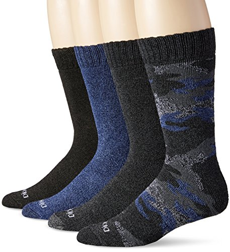 Dickies Mens 4 Pack Camo and Marl All Season Moisture Control Crew Socks