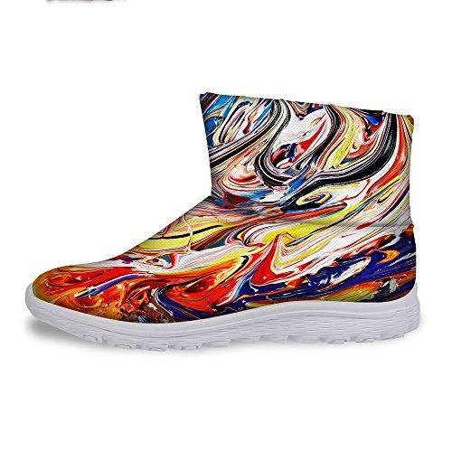 För U Designar Mode Kvinna Varm Vinter Snö Stövlar Vattentäta Skor Boots Multi 2