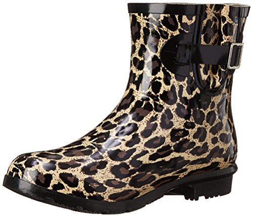 Nomad Women's Droplet Rain Boot, Tan Leopard, 7 M US