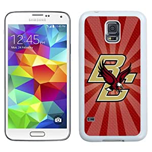 Fashionable And Unique Designed With NCAA Atlantic Coast Conference ACC Footballl Boston College Eagles 8 Protective Cell Phone Hardshell Cover Case For Samsung Galaxy S5 I9600 G900a G900v G900p G900t G900w Phone Case White