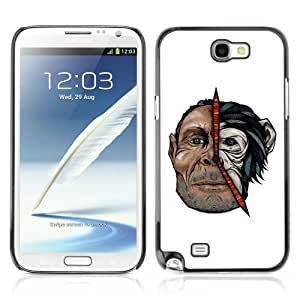 Designer Depo Hard Protection Case for Samsung Galaxy Note 2 N7100 / Cool Man & Monkey