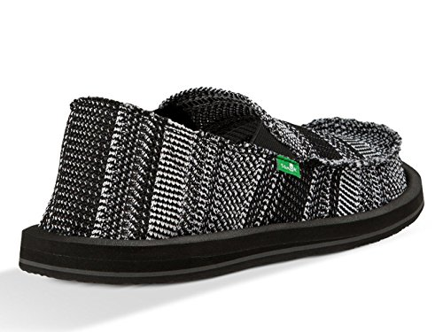 White Yew Mens Sanuk Knit Black Loafer OfnAxv