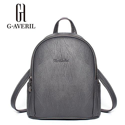 G-AVERIL GA1023-G - Bolso mochila  para mujer gris gris gris