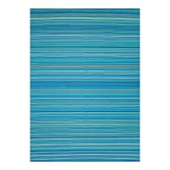 Garden and Outdoor Santex Single Layer Outdoor/Indoor Plastic Rug,Easy to Clean,Mildew, UV, Stain and Water Resistant(Blue,5×7 Feet) outdoor rugs