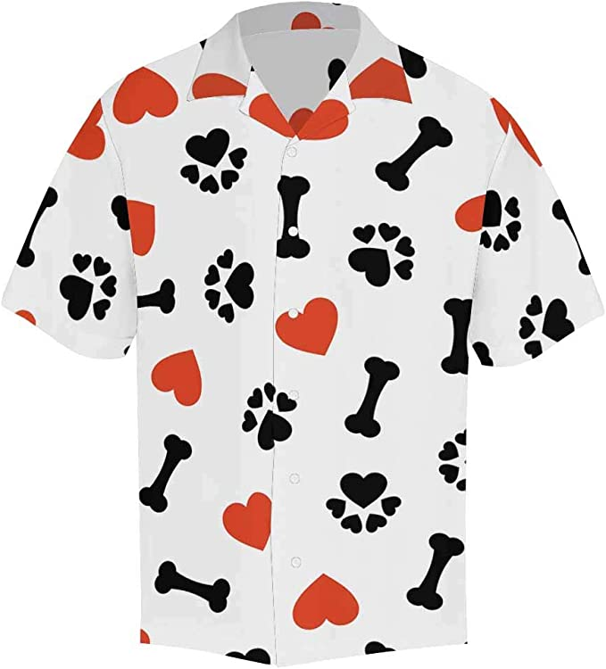 Valentines Day INTERESTPRINT Mens Button Down Baseball Jersey Animal Cat I Love You