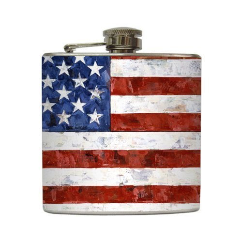 Old Glory - Liquid Courage Flasks - 6 oz. Stainless Steel - Old Tailgate