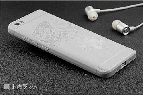 SMTR Xiaomi Mi5 Funda Silicona,Xiaomi Mi5 Funda Gel Suave TPU Case - Carcasa Resistente a los Arañazos para Xiaomi Mi5 -Negro Blanco