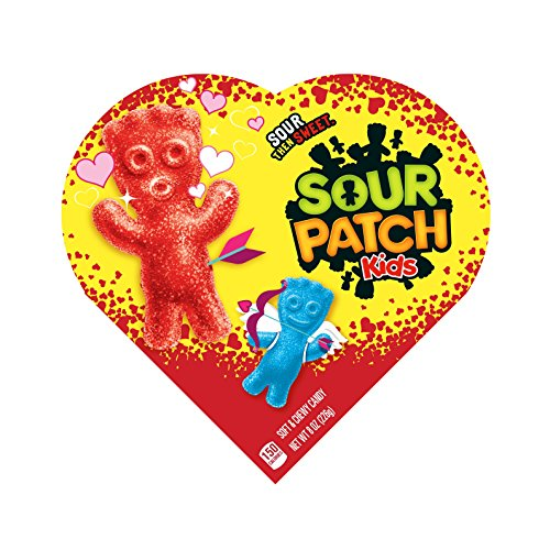 Sour Patch Kids Valentine's Heart Boxes, 6 Count