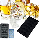 Samoii Ice Cube Trays Silicone Mold - 6 Cavity, Beard Design Ice Cube Ball Maker Molds,Chocolate Mold Reusable Mold Tray