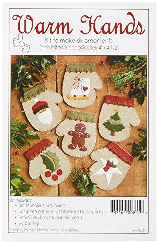 Rachel's Of Greenfield Warm Hands Ornament Kit, Set of 6 by Rachel's Of Greenfield