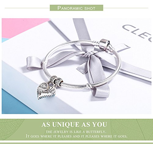 EyeCandy US Mother and Daughter 100% 925 Sterling Silver Love Forever Pendant Charms fit Bracelets Necklace Jewelry Making by EyeCandy US (Image #6)