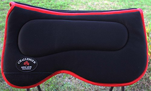 PRORIDER Equine Western Horse Saddle PAD Anti Slip Memory Foam Black Red Light 3960