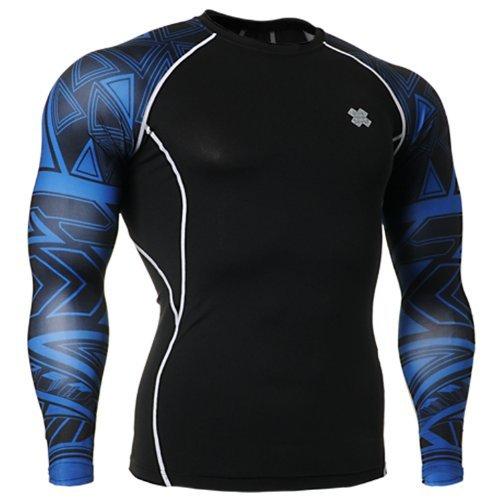 Fixgear Mens Womens Sport MMA Compression Base Layer T Shirt Long Sleeve M