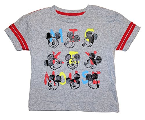 (Disney Mickey Mouse Toddler Boys Many Faces Of Mickey Shirt (5T))