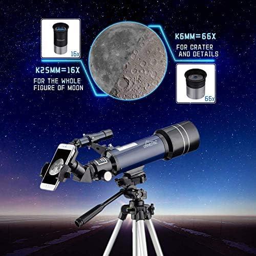 Adaptador De Tel/éfono Inteligente Port/átil y Equipado con Tr/ípode MAXLAPTER Refractores Telescopio Astron/ómico para Ni/ños Principiantes Alta Ampliaci/ón HD Doble Uso