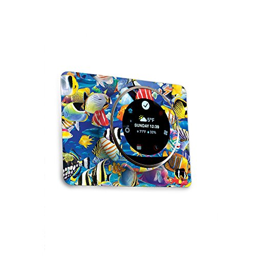 MightySkins Skin for Nest Thermostat - Tropical Fish | Protective, Durable, and Unique Vinyl Decal wrap Cover | Easy to Apply, Remove, and Change Styles | Made in The USA