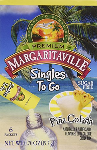 Margaritaville Pina Colada Singles to Go 6 Packets X 2 Boxes =12 Packets (Alcohol Colada Pina)