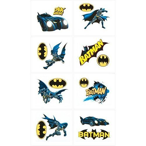 (Batman Heroes & Villians Temporary Tatoos, 16 Tatoos)