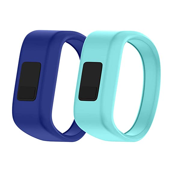 NotoCity Compatible Garmin Vivofit JR Watch Band Soft Silicone Replacement Bands for Garmin Vivofit JR/Vivofit JR 2/Vivofit 3 Smartwatch (2pcs-1, ...