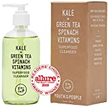 Youth To The People Kale Superfood Cleanser - Daily Gentle Face Wash with Spinach + Green Tea, Vegan Gel Cleanser - Clean Skincare