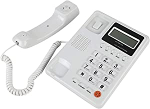 fosa Corded Phone with Caller ID/Call Waiting Speakerphone Display XL Buttons Home Hotel Wired Corded Desktop Telephone Office Landline Telephone DTMF/FSK Dual System (White)