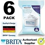 Brita Maxtra Water Filter Jug Refills Genuine Replacement Cartridges - Pack of 6