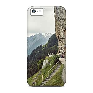 Hot Design Premium Case Cover Iphone 5c Protection Case(amazing Inn Imbeded In A High Cliff)