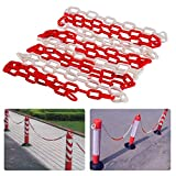 4M Road Warning Chain Parking Lock Commercial Safety Barrier for Traffic Stand Warning Isolation Stop Column Road Stake