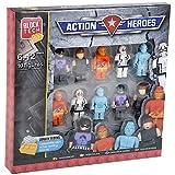10 Block Tech Figures Assorted Building Block Character Sets (Action Heroes)