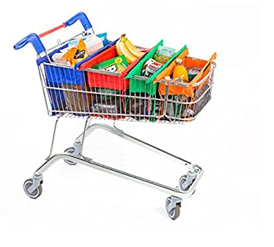 Trolley Bags - Reusable Eco Friendly Shopping Bags to Easily and Safely Bag your Groceries From Your Cart. Sized for Standard Grocery Carts. Shows the World You Care About The Planet.