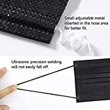 50pcs Black Disposable Face Shield Filter For