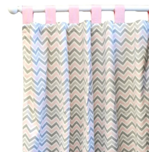 New Arrivals Peace Curtain Panels, Love Pink by New Arrivals