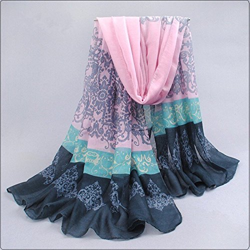 Af Fashion : Pashmina Scarf Women New Spain Desigual Voile Velvet Chiffon Infinity Scarf Winter Echarpes Scarves Silk Shawls and Scarves- Pink