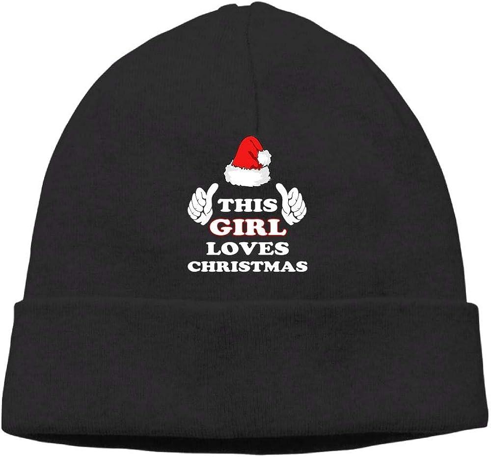 This Girl Loves Christmas Beanies Knit Hats Skull Cap Mens