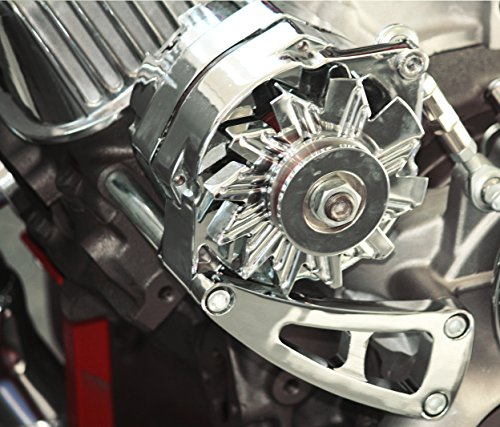 BBC Chevy Chrome Aluminum Alternator Bracket Long Water Pump LWP Chrome (Alternator Adjustment Bracket)